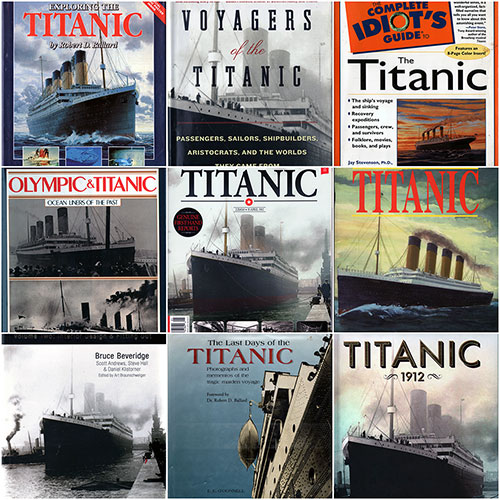 GG Archives Titanic Book Collection Collage 2019