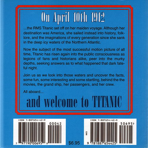 Back Cover of Titanic Trivia 1998
