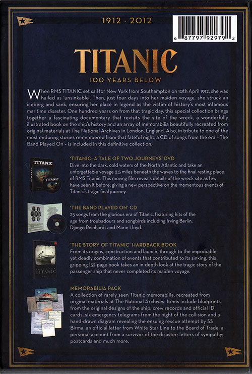 Titanic: 100 Years Below - Deluxe Centenary Edition | GG