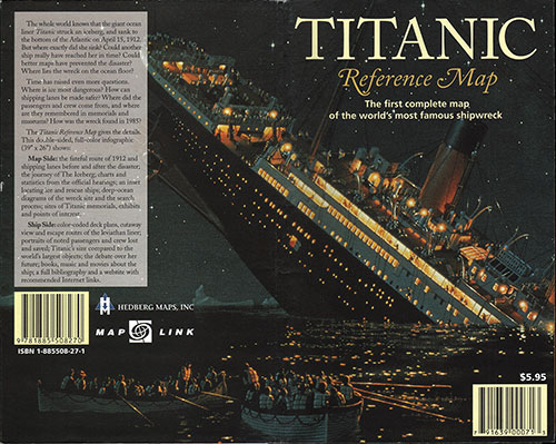 Cover of the Titanic Reference Map: The First Complete Map of the World's Most Famous Shipwreck