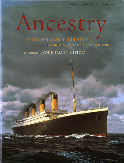 Front Cover, Ancestry Magazine - January 1998