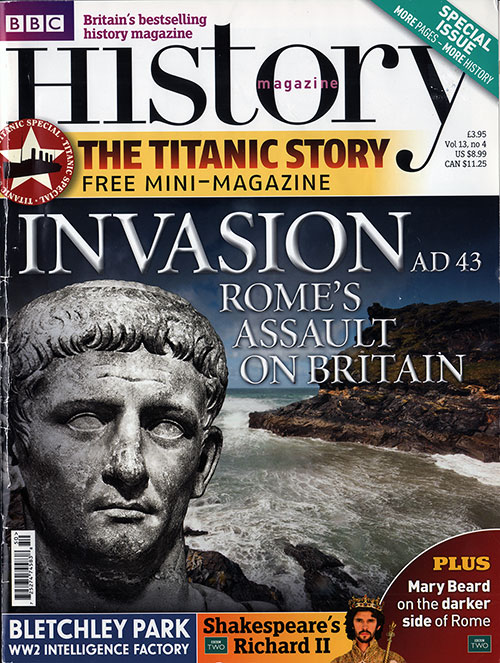 Front Cover, BBC History Magazine. Special Issue - Titanic Story