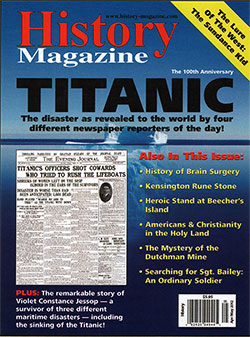 Front Cover, History Magazine for April/May 2012 - Titanic: The 100th Anniversary Issue