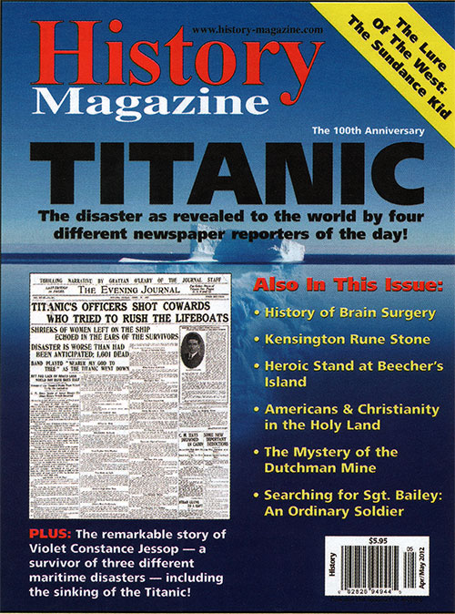 Front Cover, History Magazine - Titanic: The 100th Anniversary Issue