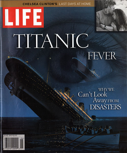 Front Cover of Life Magazine Special Issue of Titanic Feaver. The Tragedy of the Titanic by Charles Hirshberg.
