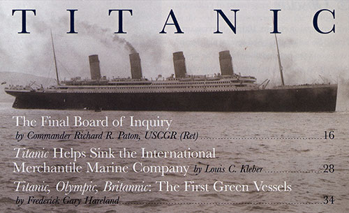 The Titanic Heads Out for Her Sea Trials