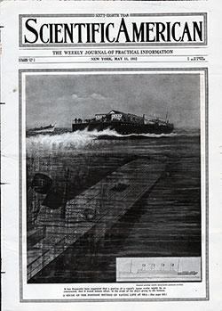 Front Cover of the Scientific American for the 11 May 1912 Issue Featurnimg The Unkinkable Ship, TItanic