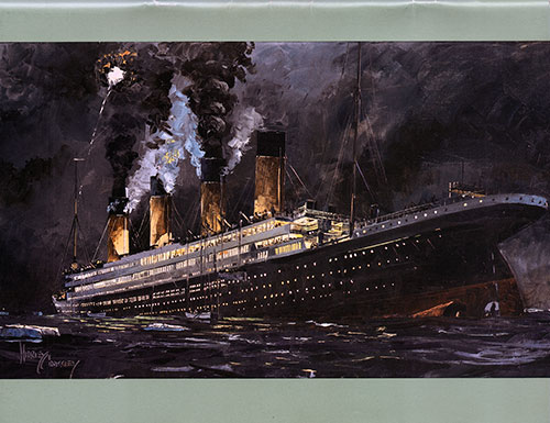 "Back Cover"" Titanic, April 15, 1912"