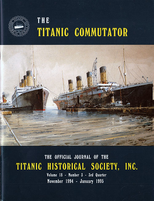 Titanic Saloon Steward - Titanic Commutator - 3rd Quarter 1994