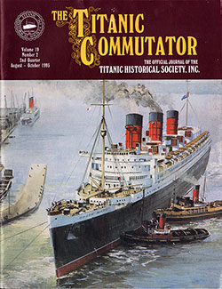 Front Cover of The Titanic Commutator: The Official Journal For The Titanic Historical Society, Inc. Vol. 19, No. 2, 2nd Quarter, August 1995