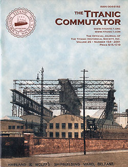 Front Cover, The Titanic Commutator, Volume 25, Number 154, Quarterly Journal