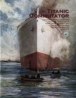 Front Cover, Titanic Commutator, 1st Quarter 2012, Official Journal of The Titanic Historical Society, Inc.