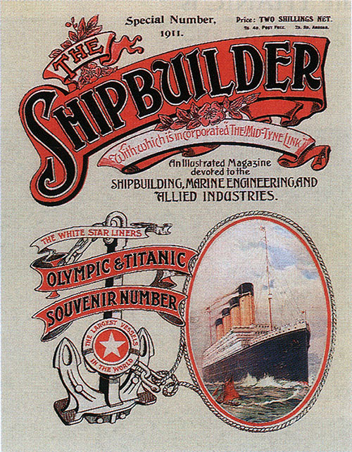 Front Cover, The Shipbuilder White Star Liners Olympic & Titanic Souvenir Number, Special Number - Summer 1911