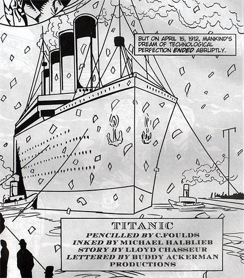 itle Page - Comic Book / Graphic Novel of the Titanic Story