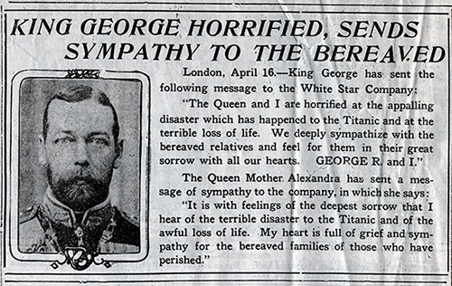 King George Horrified, Sends Sympathy To The Bereaved