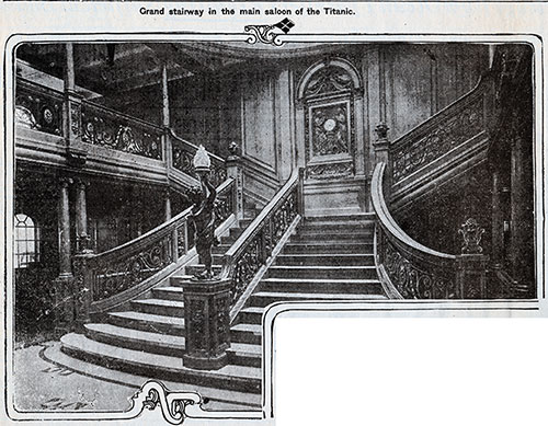 Grand Stairway in the Main Saloon of the Titanic
