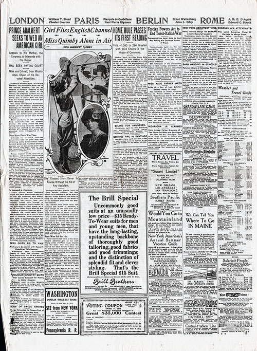 Page 11 of the New York American fro 17 April 1912. Featured Article: Prince Adelbert Seeks to Wed An American Girl.