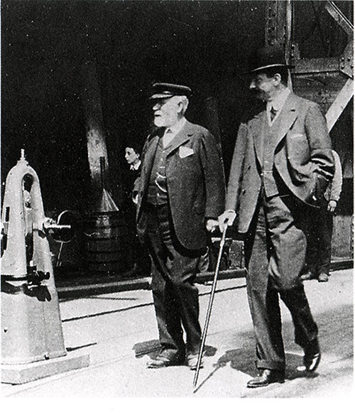 Mr. J. Bruce Ismay and Lord Pirrie, Builder of the Titanic in 1911