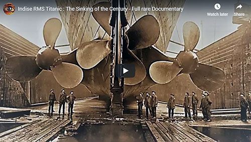Video Hero Image: RMS Titanic - The Sinking of the Century.