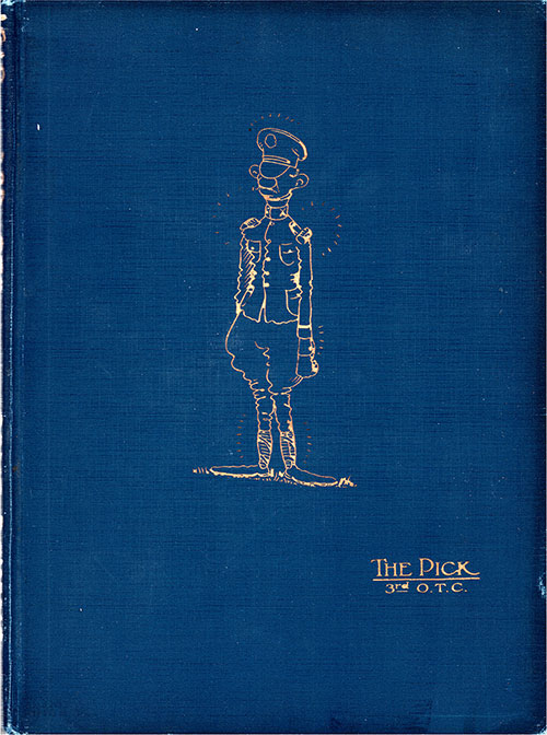 "Front Cover, ""The Pick"" 3rd Officers Training Camp at Camp Devens, Ayer, Massachusetts 1918."
