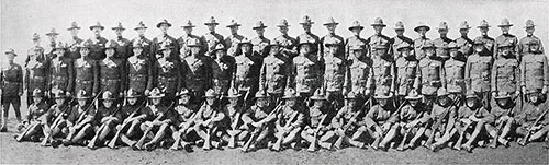 Left Half of Group Panoramic Photo of the Cadets of the Third Infantry Company, Third Officers Training Camp, Camp Devens, 1918.