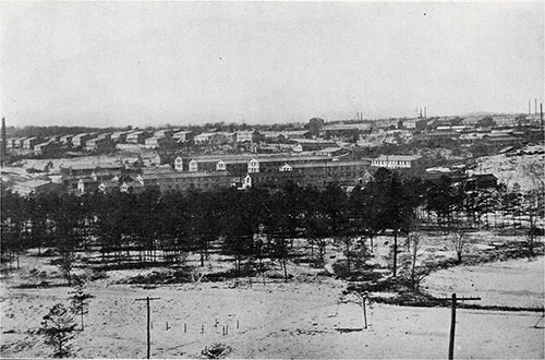 A Bird's-Eye View of Camp Devens - Looking West from Boulder Hill.