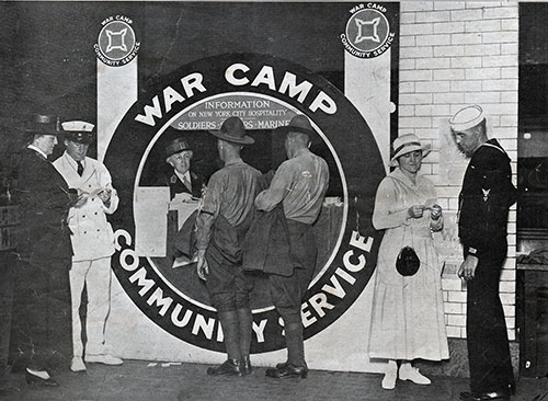 War Camp Community Service Information Booth