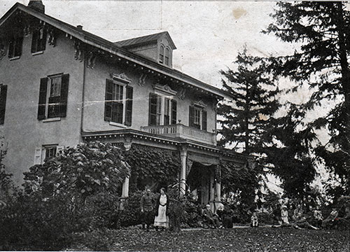 A Lawn Party at the Residence of Mr. and Mrs. Alexander Forbes in Mt. Holly
