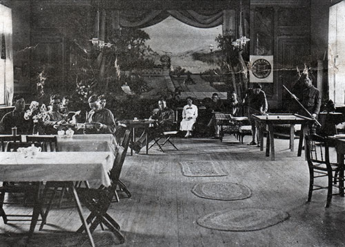 The Interior of the Pemberton Soldiers' Club