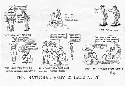 The National Army is Hard At It.