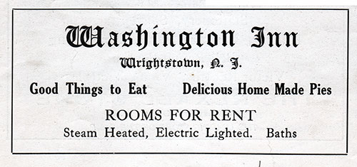 Ad - Washington Inn