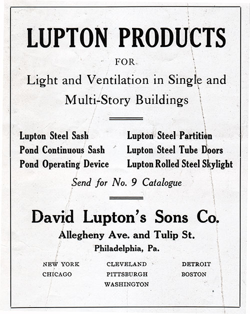 Ad - David Lupton's Sons Co.