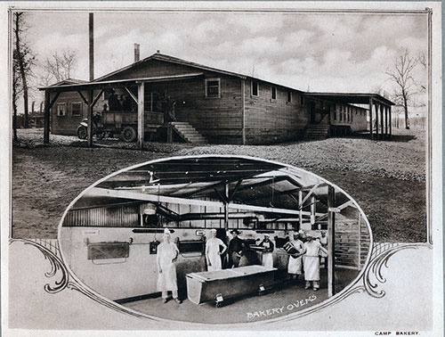 Photo 19: Camp Bakery with inset showing Bakery Ovens