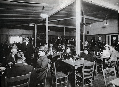 Visitors at the Hostess House Cafeteria