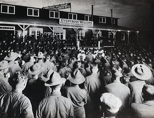 Vaudeville Show, Knights of Columbus, Building No. 2, 5 July 1918