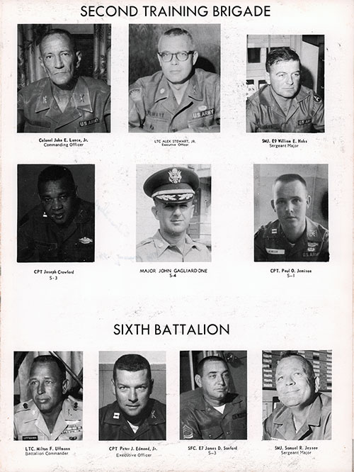 Company A 1967 Fort Benning Basic Training Leadership, Page 1.