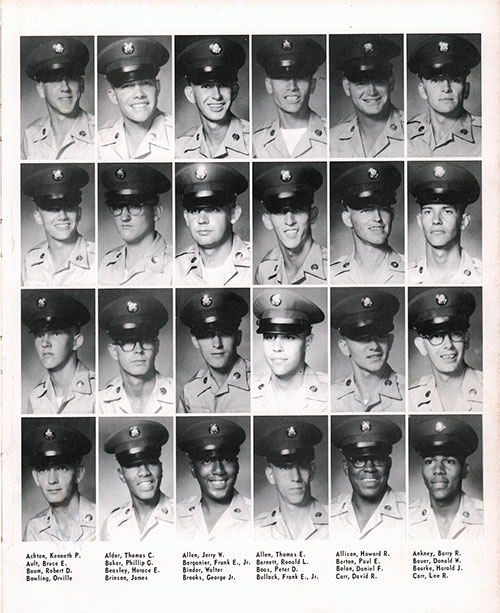Company A 1967 Fort Benning Basic Training Recruit Photos, Page 3.