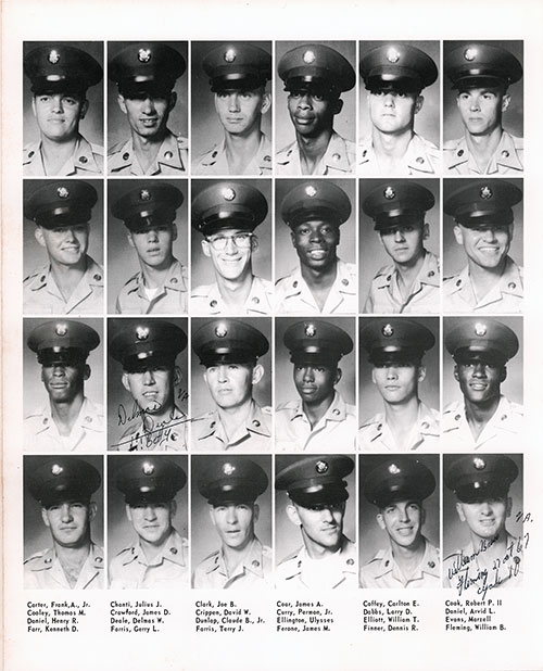 Company A 1967 Fort Benning Basic Training Recruit Photos, Page 4.