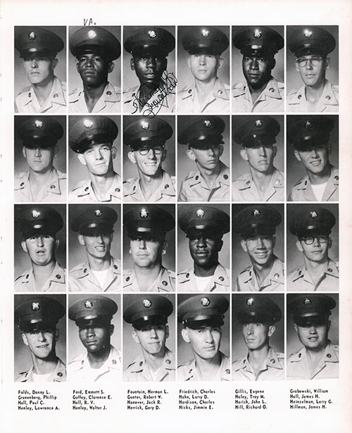 Company A 1967 Fort Benning Basic Training Recruit Photos, Page 5.