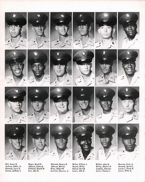 Company A 1967 Fort Benning Basic Training Recruit Photos, Page 6.