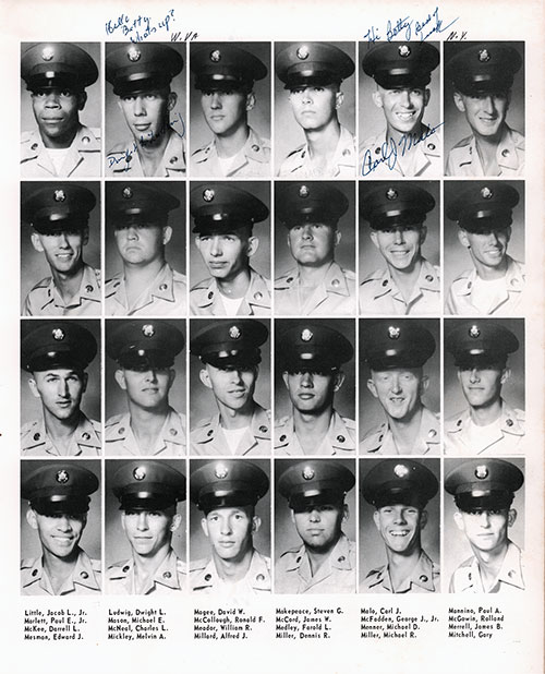 Company A 1967 Fort Benning Basic Training Recruit Photos, Page 7.