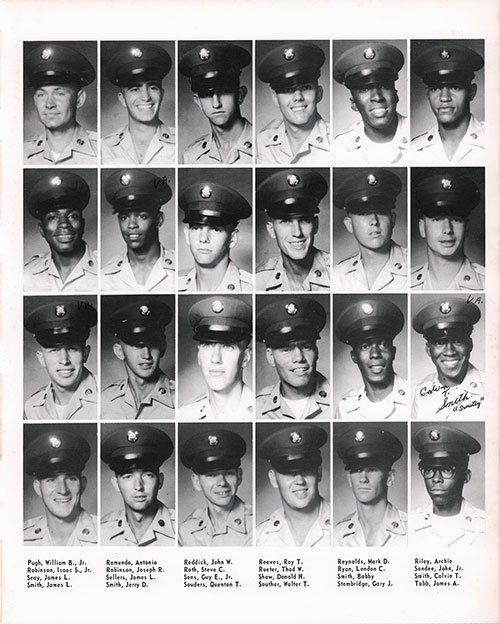 Company A 1967 Fort Benning Basic Training Recruit Photos, Page 9.