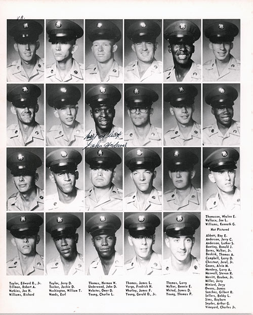 Company A 1967 Fort Benning Basic Training Recruit Photos, Page 10.
