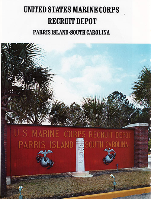 Frontage Signage for the Marine Corps Recruit Depot at Parris Island, South Carolina.