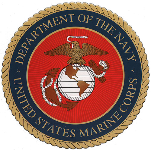 Emblem of the United States Marine Corps - A Department of the US Navy.