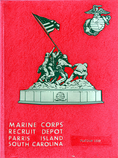 Front Cover, MCRD Marine Boot Camp Book - Parris Island - 1982 Platoon 1022.