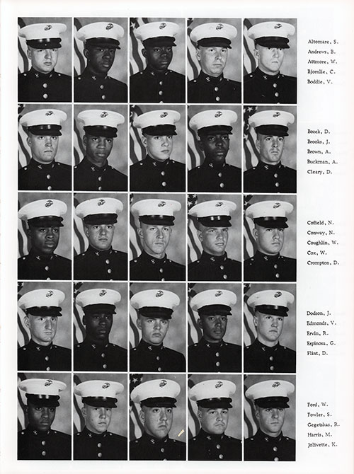 Platoon 1982-1022 MCRD Parris Island Recruits, Page 3.