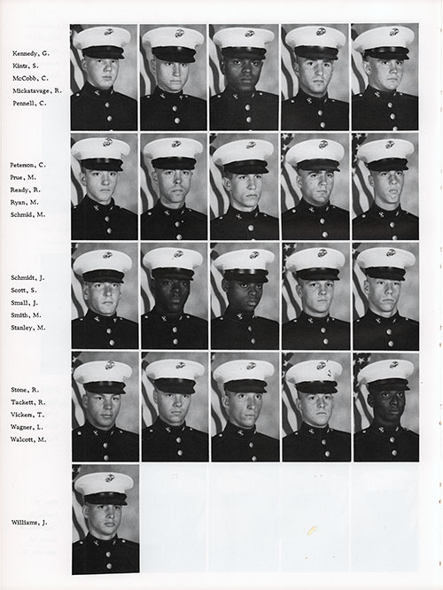 Platoon 1982-1022 MCRD Parris Island Recruits, Page 4.