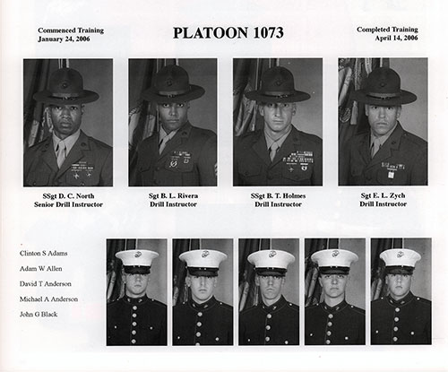 Platoon 2006-1073 MCRD San Diego Recruits, Page 3.