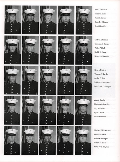 Platoon 2006-1073 MCRD San Diego Recruits, Page 4.